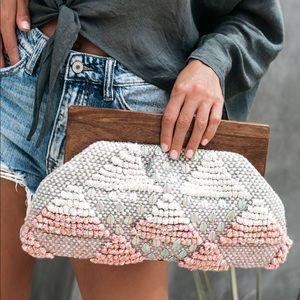 Handbags - Anthro's Grotto Woven Clutch